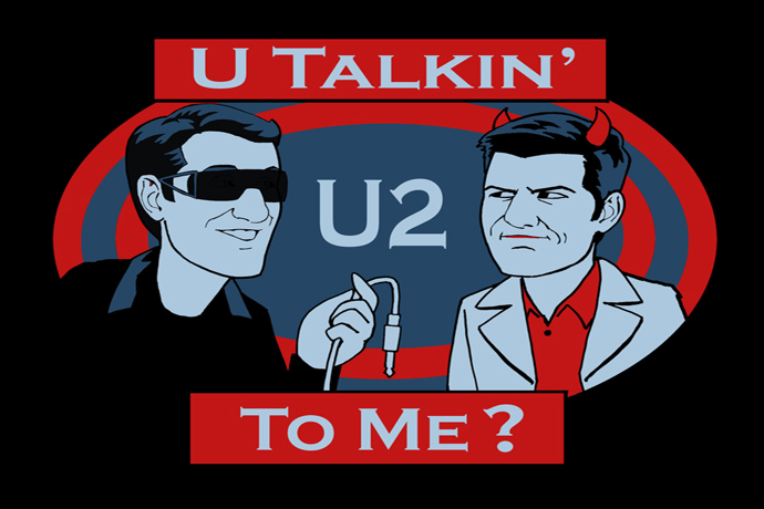 U Talkin' U2 To Me? Hosted by Adam Scott and Scott Aukerman.